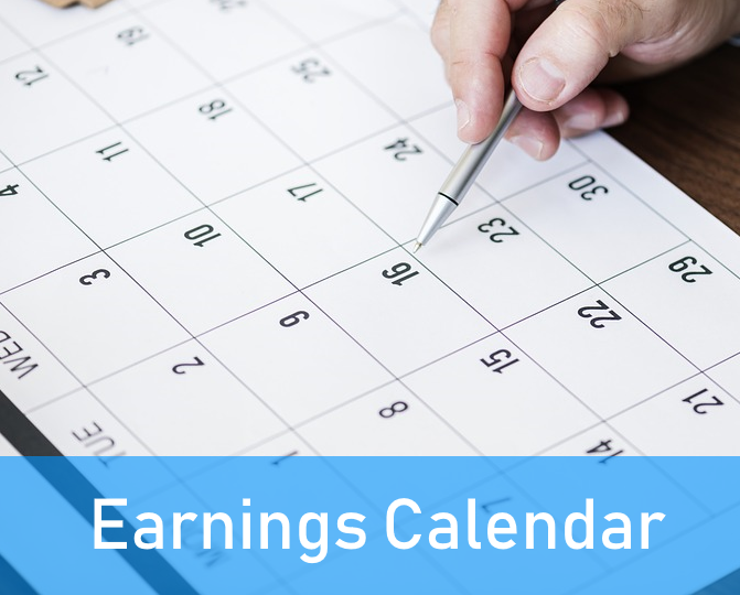 Trading stocks online with an earnings calendar.
